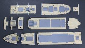 Hasegawa QG51 (72151) NYK Line Hikawa Maru Wooden Deck 1/350