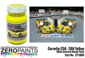 Zero Paints 1068 Yellow Paint for Corvettes C5R-C6R 60ML