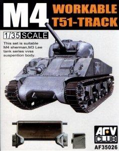 AFV Club 35026 Workable T51-Track for M3 Lee / M4 Sherman 1/35