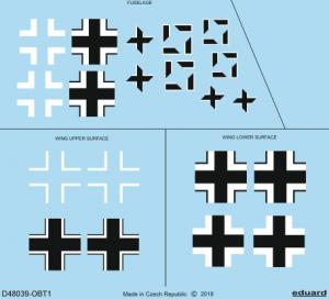Eduard D48039 Fw 190A-5 national insignia EDUARD 1/48