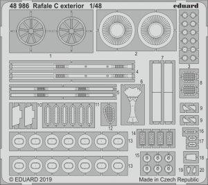 Eduard 48986 Rafale C exterior 1/48 REVELL