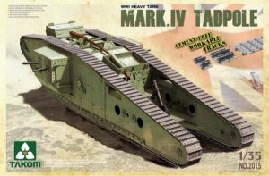 Takom 2015 WWI HEAVY TANK w/REAR MORTAR MARK IV Male Tadpole (1:35)