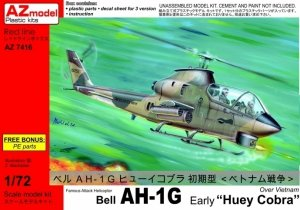 AZmodel AZ7416 Bell AH-1G Early Huey Cobra Over Vietnam 1/72