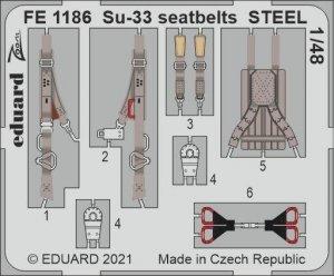 Eduard FE1186 Su-33 seatbelts STEEL MINIBASE 1/48