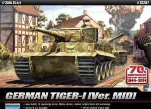 Academy 13287 GERMAN TIGER I Ver. MID (1:35)