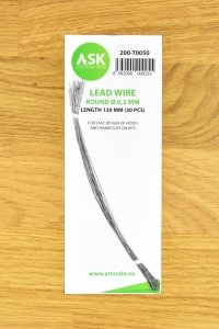 ASK T0050 Lead Wire  Round Ø 0,2 mm x 120 mm (30 pcs)