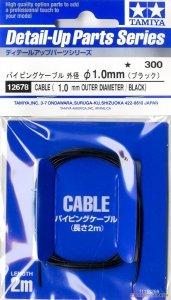 Tamiya 12678 Cable, OD 1.0mm black Length 2m