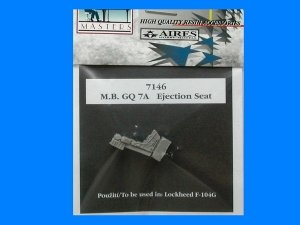 Aires 7146 M. B. GQ 7A seat for F-104G 1/72