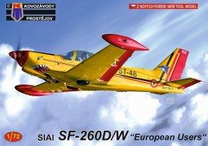 Kovozavody Prostejov KPM0212 SIAI SF-260W/D European Users 1/72