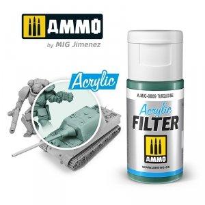 Ammo of Mig 0809 ACRYLIC FILTER Turquoise 15 ml