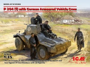 ICM 35382 P 204 (f) with German Armoured Vehicle Crew (1:35)