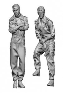 Glowel Miniatures 35027 German tank crew relaxed poses 1/35