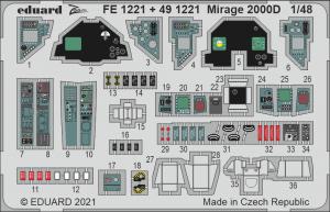 Eduard FE1221 Mirage 2000D KINETIC 1/48