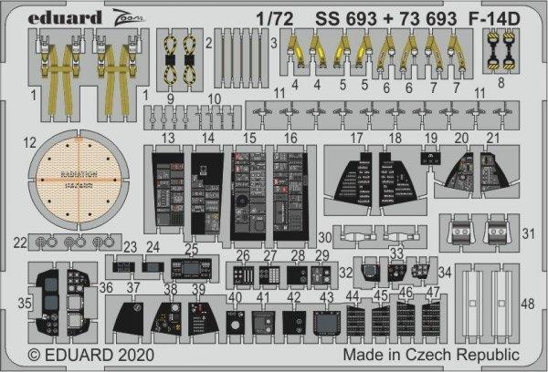 Eduard 73693 F-14D 1/72 GREAT WALL HOBBY