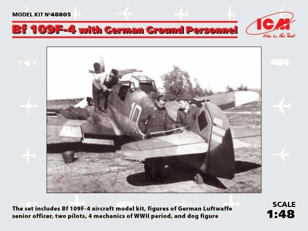 ICM 48805 Bf 109F-4 with German Ground Personnel 1/48