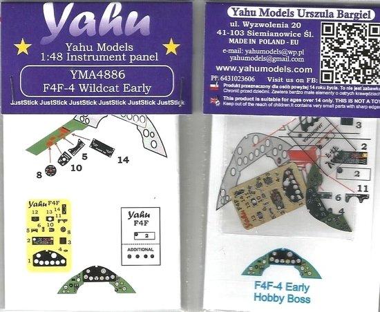 Yahu YMA4886 F4F-4 Wildcat Early type (Hobby Boss) 1/48