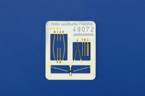 Eduard 49072 F-104G seatbelts FABRIC 1/48 EDUARD, HASEGAWA