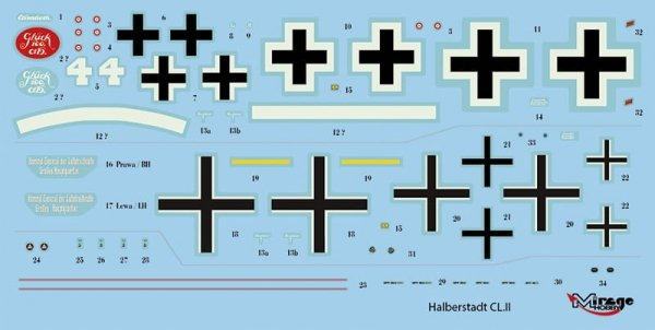 Mirage Hobby 481405 Halberstadt CL.II 1/48