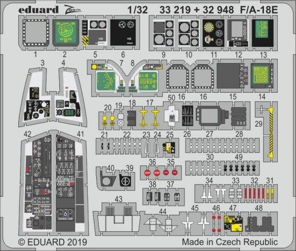 Eduard 33219 F/ A-18E 1/32 REVELL