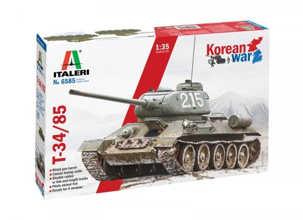 Italeri 6585 T-34/85 Korean War 1/35