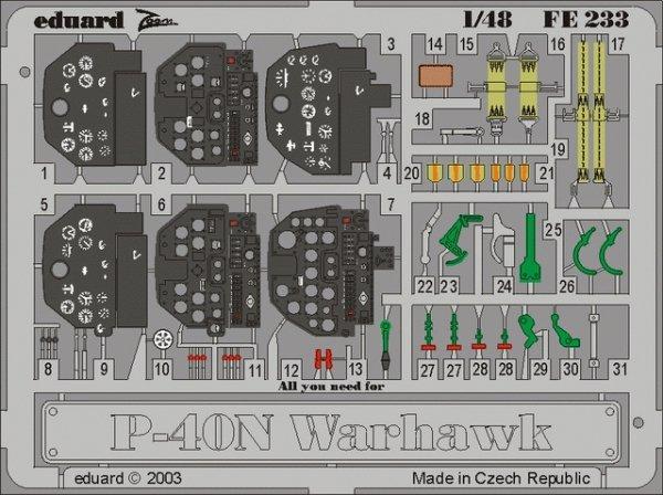 Eduard FE233 P-40N 1/48 Eduard