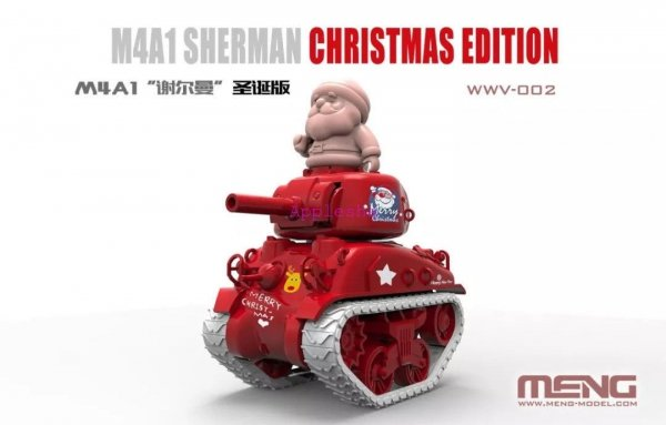 Meng Model WWV-002 M4A1 Sherman Q Editon Assembly Model Christmas Xmas Special Gift