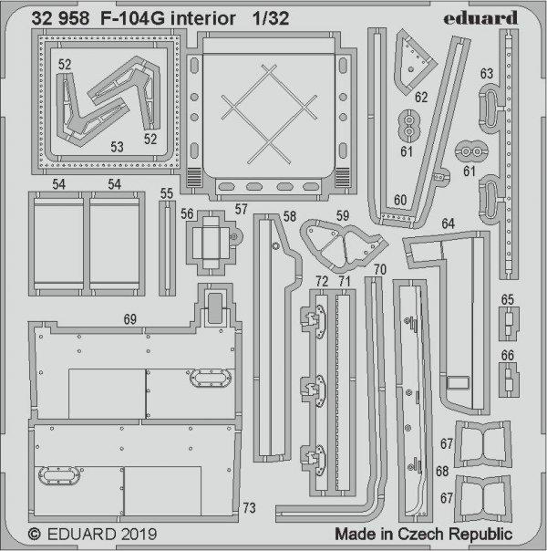 Eduard 32958 F-104G interior 1/32 ITALERI