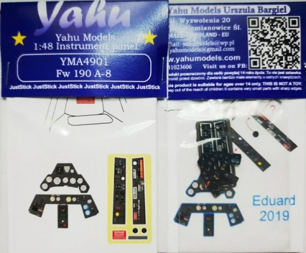 Yahu YMA4901 Fw-190A-8 (Eduard) 1/48