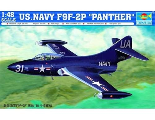 Trumpeter 02833 US.NAVY F9F-2P PANTHER (1:48)