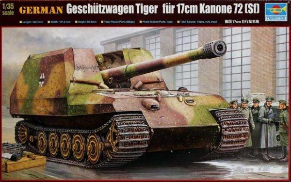 Trumpeter 00378 German Geschutzwagen Tiger fur 17cm K72 (1:35)