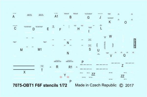 Eduard D72014 F6F stencils 1/72