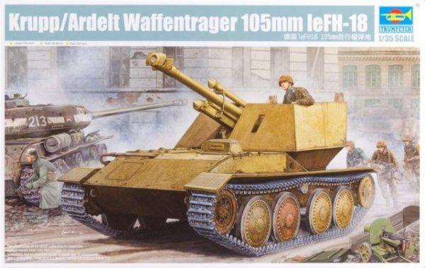 Trumpeter 01586 Krupp/Ardelt Waffentrager 105mm leFH-18 (1:35)