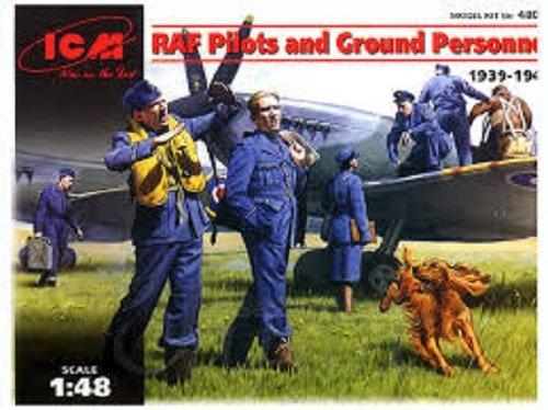 ICM 48081 Piloci i personel RAF (1:48)