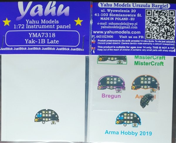 Yahu YMA7318 Yak-1B late (Arma Hobby) 1/72