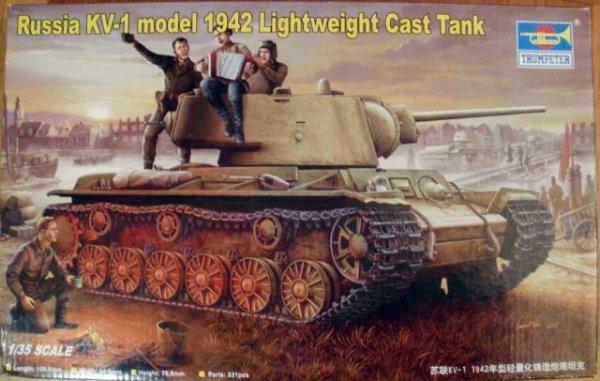 Trumpeter 00360 Russia KV-1 model 1942 Lightweight Cast Tank (1:35)