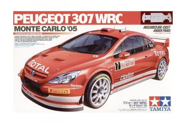 Tamiya 24285 Peugeot 307 WRC Monte-Carlo '05 (1:24)