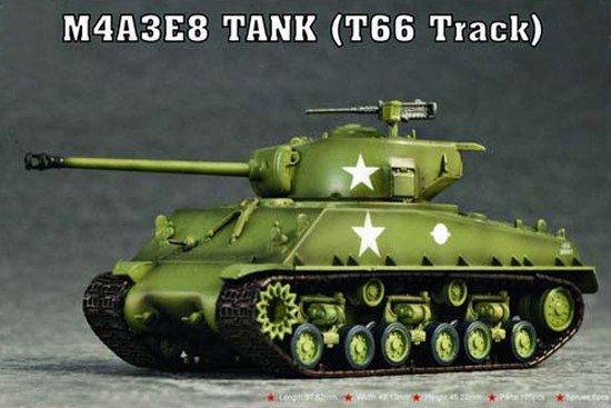 Trumpeter 07225 M4A3E8 TANK (T66 Track) (1:72)