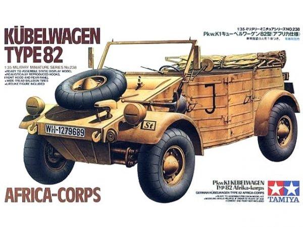 Tamiya 35238 German Kbelwagen Type 82 Africa-Corps (1:35)