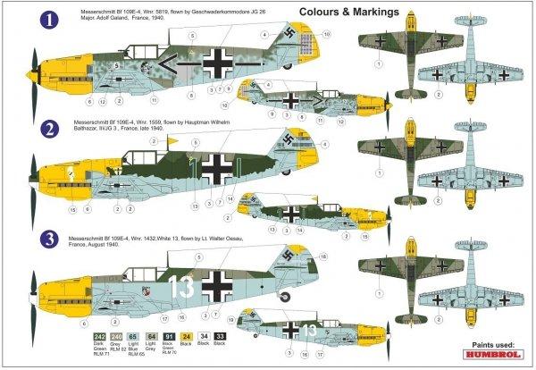 "AZ Model AZ7682 Bf 109E-4 ""Aces over Channel"" 1/72"