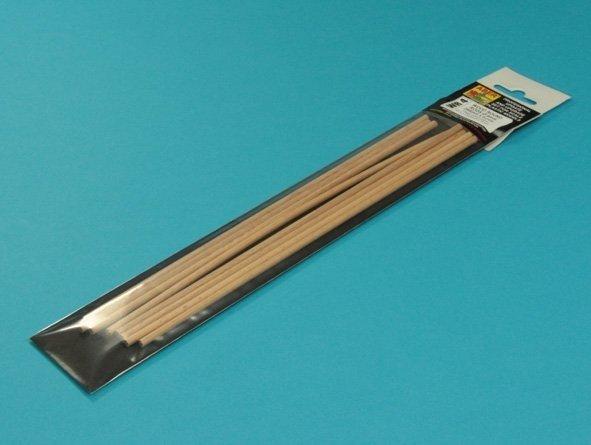 Aber WR4 Pręty drewniane 4mm długość 250mm x 8 szt.