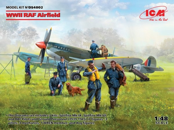 ICM DS4802  WWII RAF Airfield Pilots and Ground Personnel 1/48