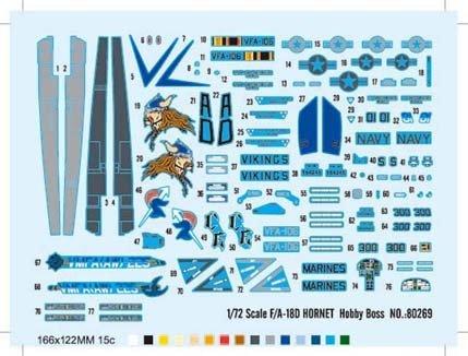 Hobby Boss 80269 F/A-18D HORNET (1:72)