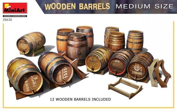 MiniArt 35630 Wooden Barrels. Medium Size 1/35