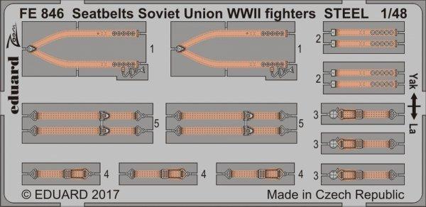 Eduard FE846 Seatbelts Soviet Union WW2 fighters STEEL 1/48