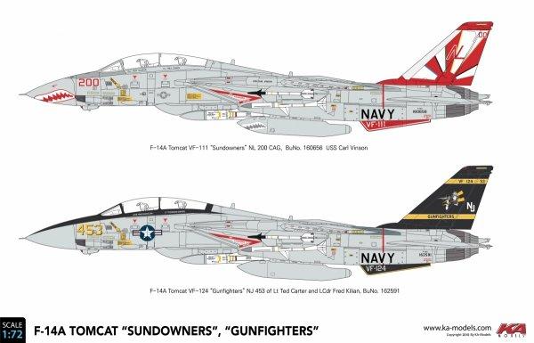 """KA Models KP-72003A F-14A Tomcat """"Sundowners"""" (ex Fujimi) 1/72"""