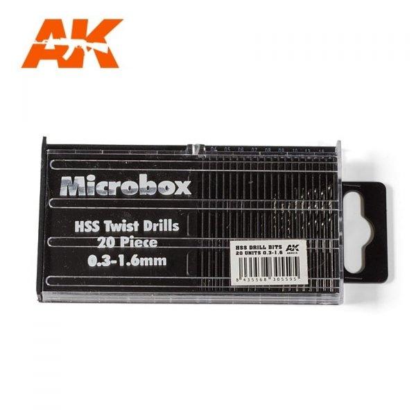 AK Interactive AK 9015 MICROBOX HSS DRILL BITS (0.3 -1.6)