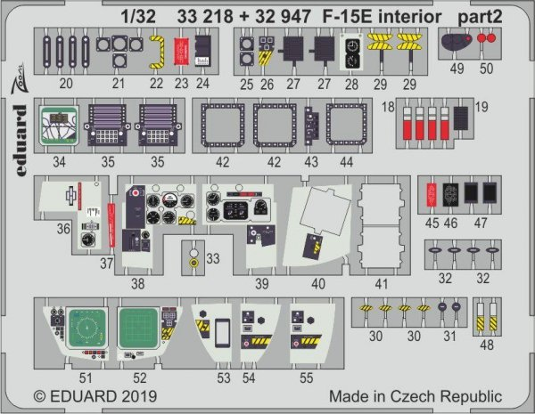 Eduard 32947 F-15E interior 1/32 TAMIYA
