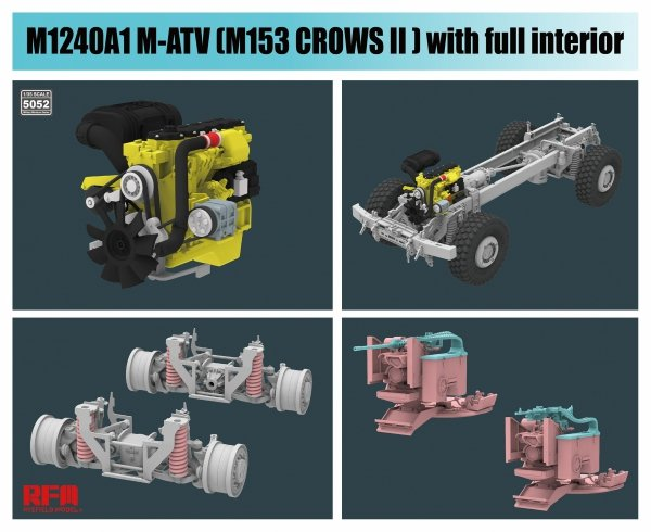 Rye Field Model 5052 M1240A1 M-ATV M153 CROWS II with full interior 1/35