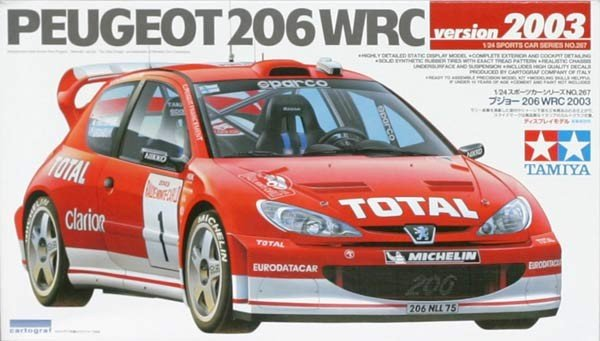 Tamiya 24267 Peugeot 206 WRC version 2003 (1:24)