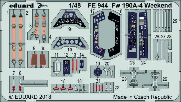 Eduard FE944 Fw 190A-4 Weekend 1/48 EDUARD